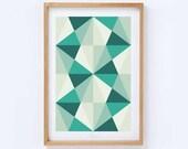 Wall Art Decor Mid Century Modern Abstract Geometric Art Print
