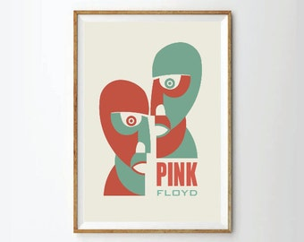 Poster, Music poster, Pink Floyd, Pink Floyd poster, Pink Floyd prints, music prints, music print,  Pink Floyd print,  music posters