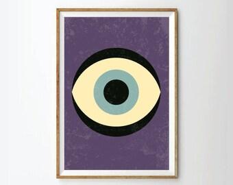 Poster,eye Art print, retro Print Poster, Geometric Art Print, Geometric poster, eye poster, art Posters