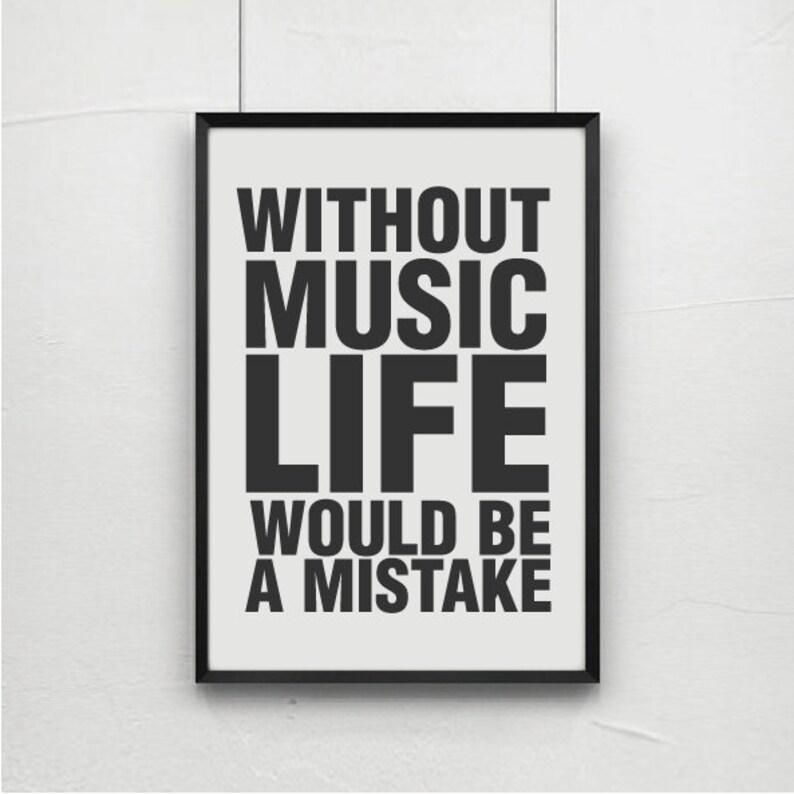 Nietzsche Quotes Quote Prints Quote Posters Music Art Etsy