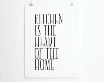 Kitchen art print, kitchen quotes