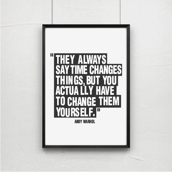 Posters poster art print andy warhol quote art quotes