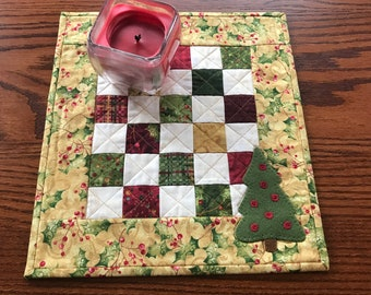 wool applique kit; lovelyquilted  penny mat great variety of fabrics!