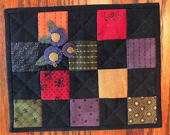 Kit; almost Amish wool and cotton little quilt