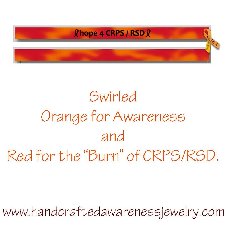 CRPS Awareness RSD Awareness Orange Ribbon Awareness image 0