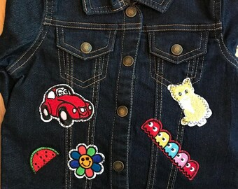 Girl's 5T Denim Jean Jacket with Appliques