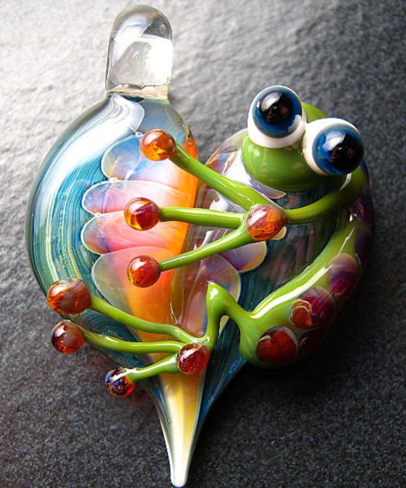 青蛙吊坠.玻璃心灯吊坠