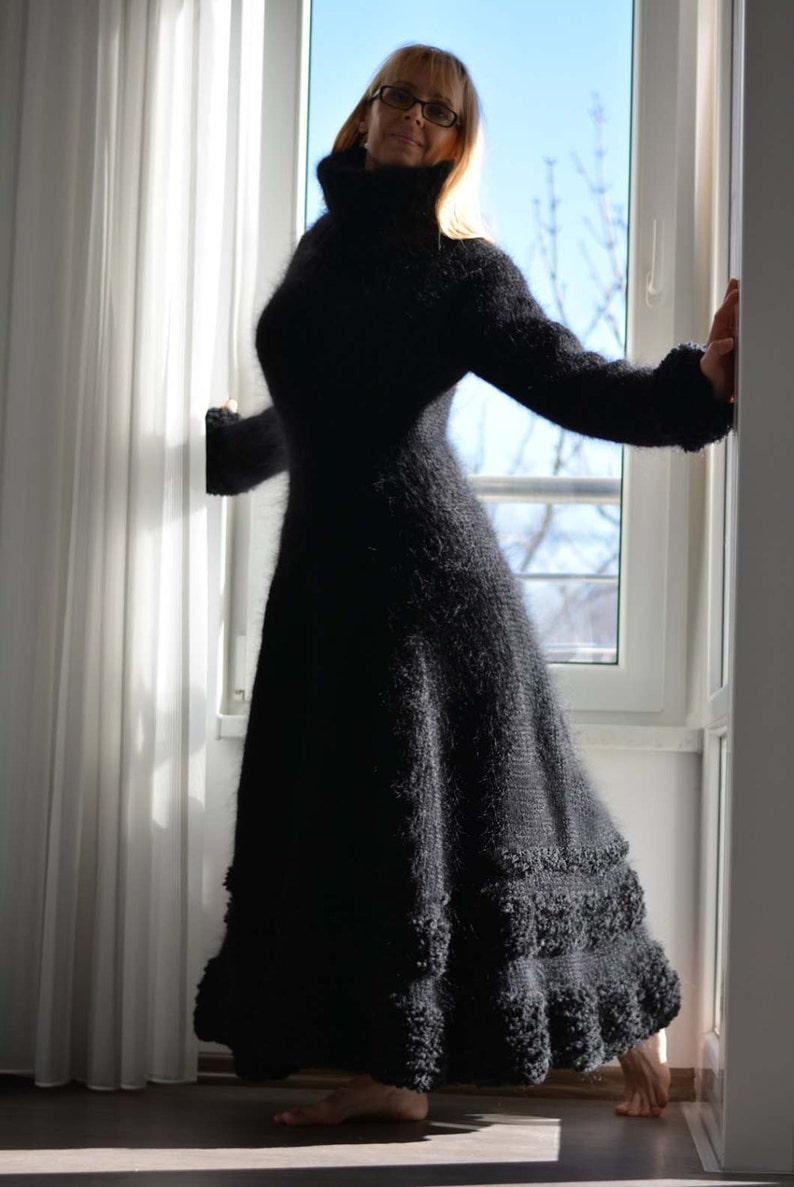 Mano di ordine mohair fatti a mano vestito a maglia spessa  a381134ac09