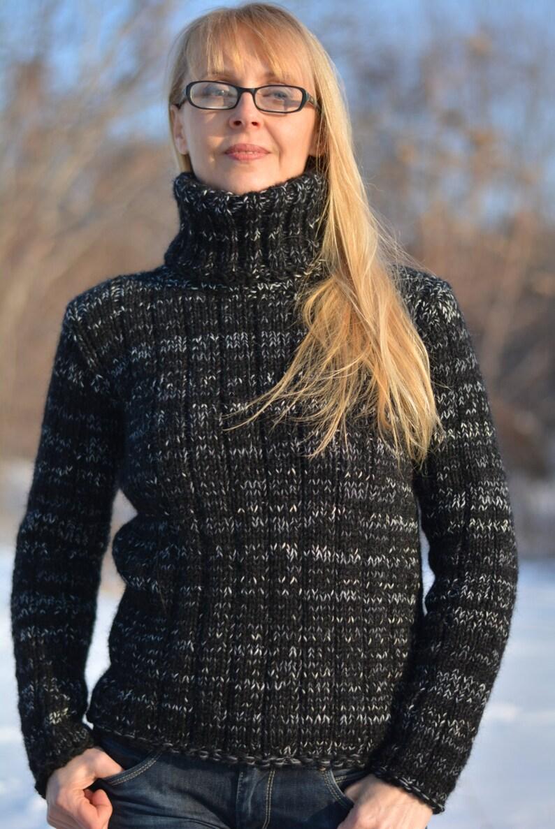 ORDINE mano a maglia angora maglione fatto a mano lana jumper  e92f876851d