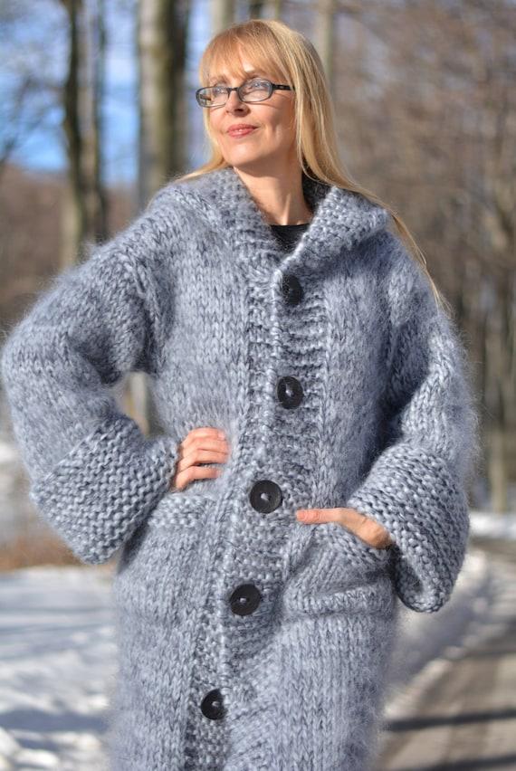 Hand knitted cropped sweater handmade summer sweater mohair jacket fuzzy shrug soft wrap mohair bolero summer cardi Dukyana made to order