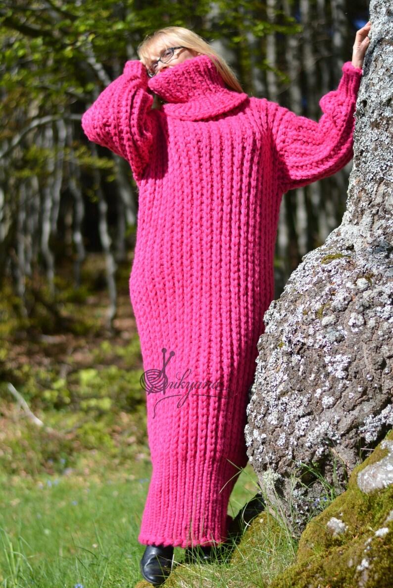 ORDINE lana fatti a mano vestito ingombrante handknit lana  622b5928c87