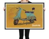 Vespa GS Sportique 150 Framed matte paper poster