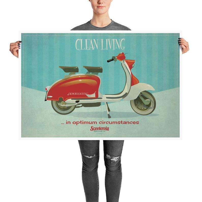 Clean Living in Optimum Circumstances: Lambretta Poster. image 0
