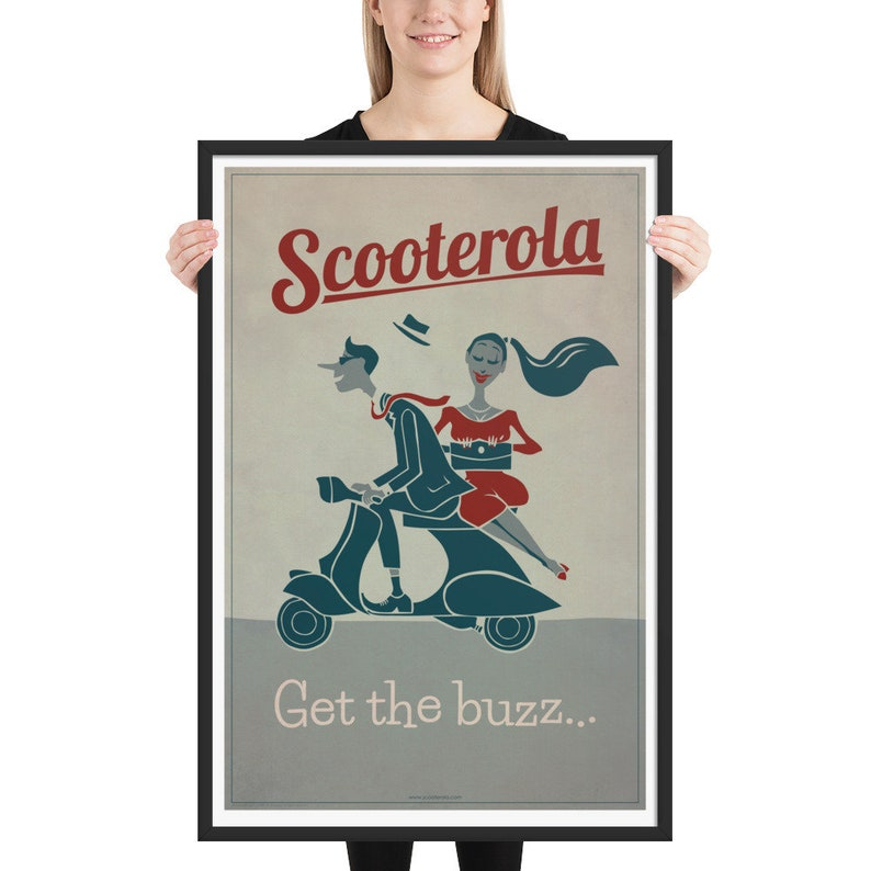Get the Buzz: Scooterista Framed matte paper poster image 0