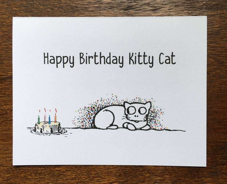 6 cards per pack Cats /& Dogs Pet Birthday Cards Vintage Whimsical Artwork