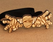 Halloween Mummy Wood Bow Tie. Handmade laser cut party gift!