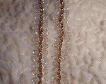 """Sarah Coventry """"Golden Ice"""" Necklace-C.1976"""