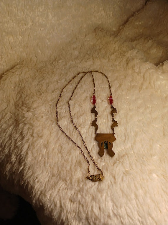 1930's Egyptian Revival Necklace - image 3