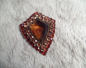 Impressive 1960's Brooch Signed Weiss