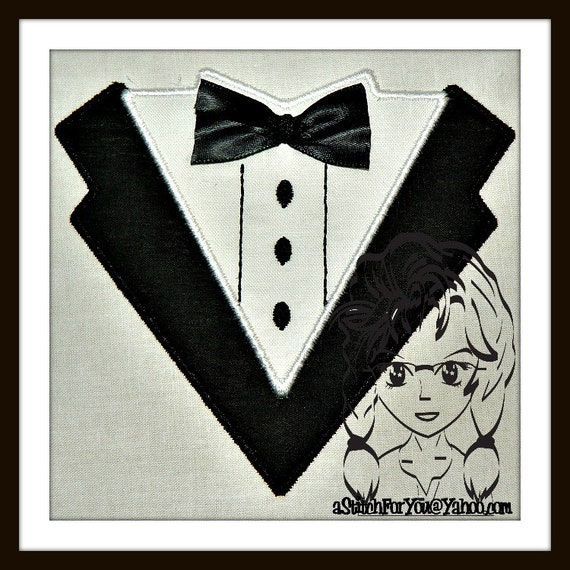 TUX Applique darling for dress up when not dressing up ~ Downloadable  DiGiTaL Machine Embroidery Design by Carrie