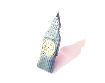Ring BIG BEN -- made to order, polymer clay ring, by The Sausage