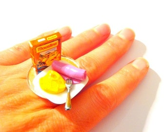 Ring MASHED POTATOES -- Miniature food ring by The Sausage