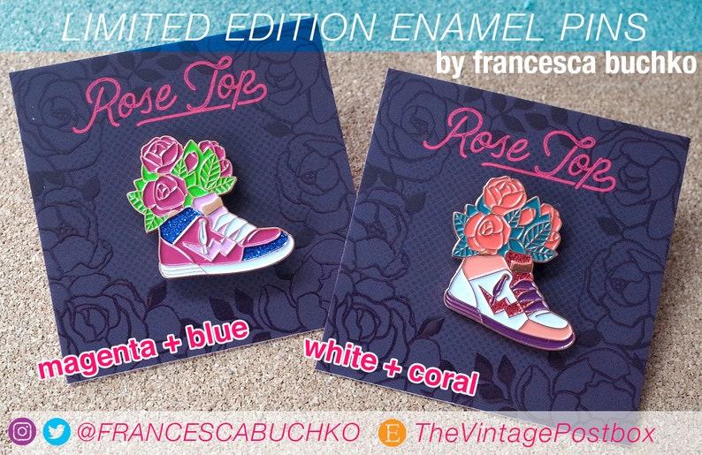 Rose Top Enamel Pin image 0
