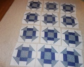 20 Machine Pieced Churn Dash quilt blocks