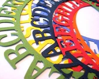 Alphabet Circle Frame in Any Color You Choose