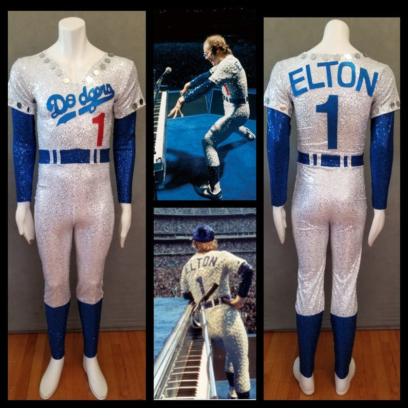 MADE TO ORDER Elton John Inspired Rocketman Dodgers Baseball image 0
