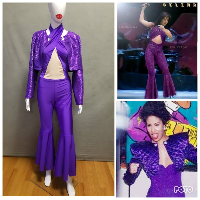 21deb1b97b7 MADE TO ORDER Selena Quintanilla Inspired Purple Jumpsuit with