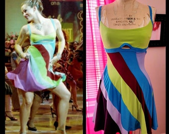 """MADE TO ORDER """"13 going on 30"""" Inspired Multi-Colored Dress - Simpler version"""
