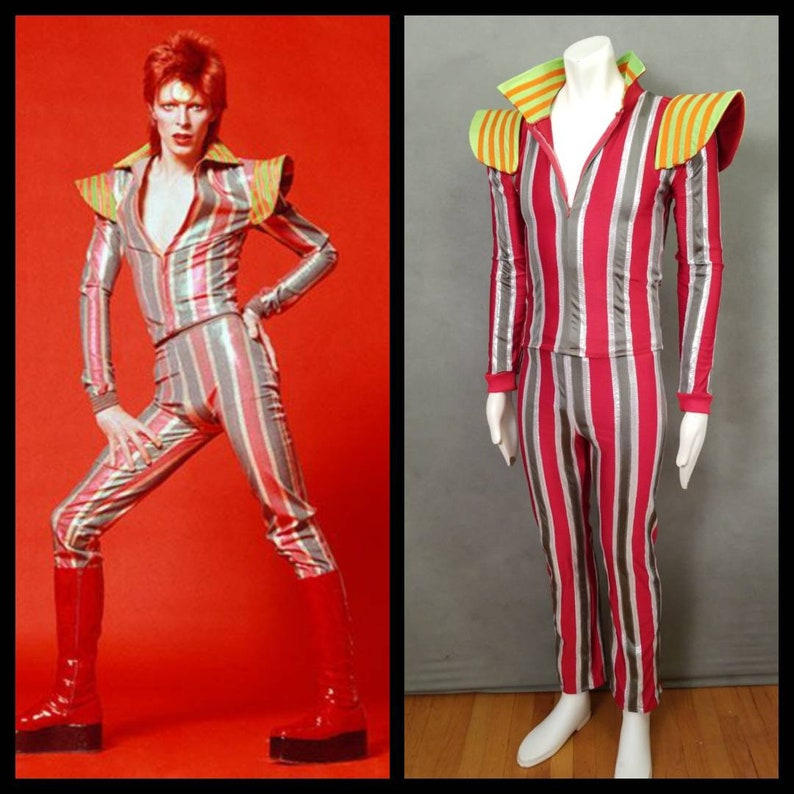 MADE TO ORDER David Bowie / Ziggy Stardust Striped 2 piece image 0