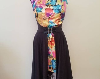 READY TO SHIP wrap dress with Floral print sizes Medium and Large