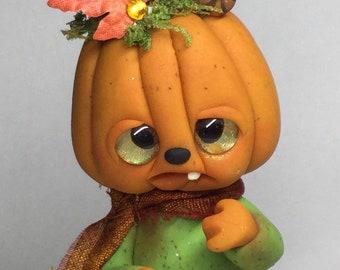 "Lil sister Pumpkin Patch Trollfling troll ""Meggy"" by Amber Matthies"