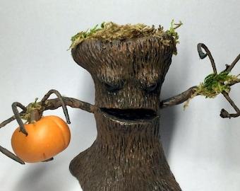 OOAK Haunted Halloween Tree Doll Sculpture by Aaron Matthies