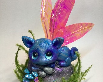 """Magical Forest Fairy cloud dragon Trollfling troll """"Delphina"""" by Amber Matthies"""