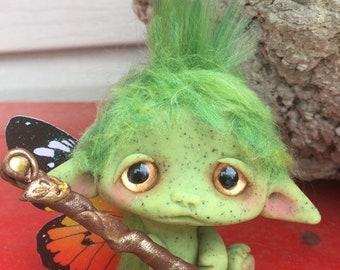 "Goblin Scout Faerie Trollfling troll ""Twig"" by Amber Matthies"