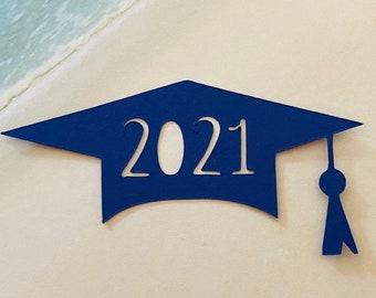 Graduation Hat Die Cuts | Cutouts | 20 Pieces | Party Decoration | Scrapbooking | Table Decor | Card Making | Graduation Decor