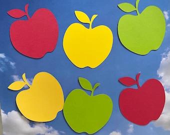 Apple Die Cuts | Classroom |. Bulletin Board | Apple Shape | Paper Cut out I Tags I Scrapbooking