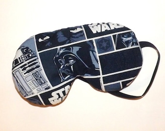 Star Wars Sleep Mask - Darth Vadar and R2D2 - Comes as Shown - Handmade
