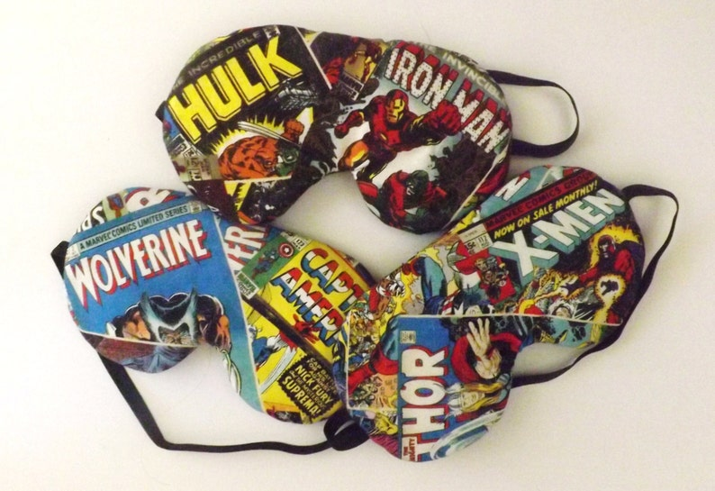 Set of 3 Marvel Hero Comic Book Headbands Fits Kids to Adults Elastic Back