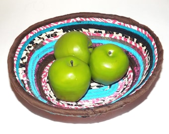 Fabric Covered Bohemian Coil Bowl - Comes As Shown