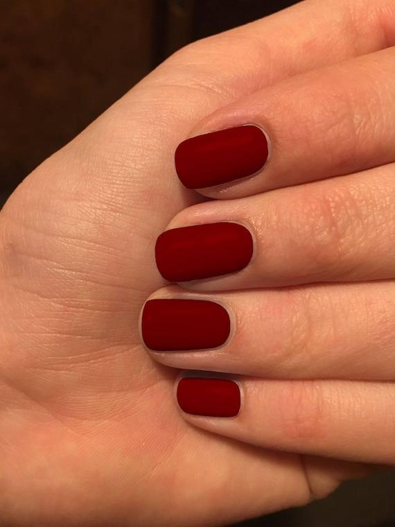 Burgundy Nail Wraps Burgundy Red Nail Wraps Nail Polish Etsy