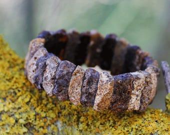 Baltic Amber Bracelet, Black Amber Bracelet, Raw, Unpolished Amber Bracelet, Amber bracelet, AB01, янтарный браслет, 琥珀手鍊, Ambre, Ambar