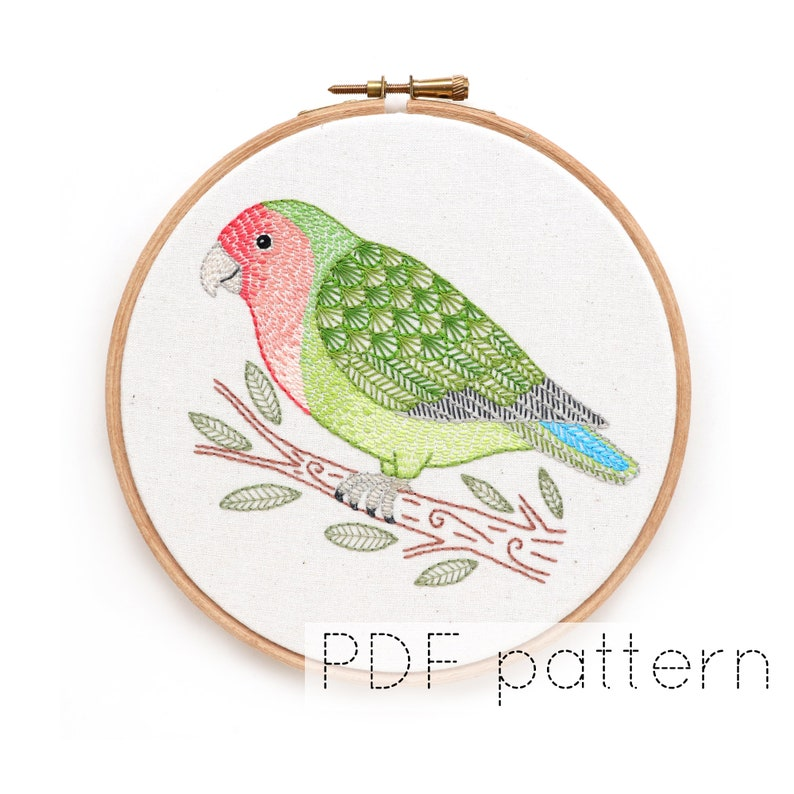Lovebird Embroidery Pattern Download image 0