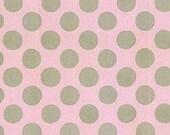 Henry Glass - Pink Ground Grey Polka Dots - by Linda Lum DeBono