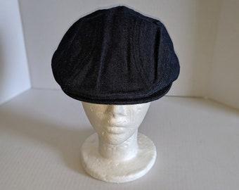 883e4c09 Vintage Style LEVIS Newsboy Hat, Retro Ascot Fashion. Blue Denim size MEDIUM