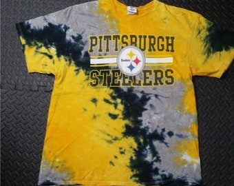 d260de770 Vintage Men s NFL Football Retro MOD Tie Dye Shirt size 2XL. Black and  Yellow Colors