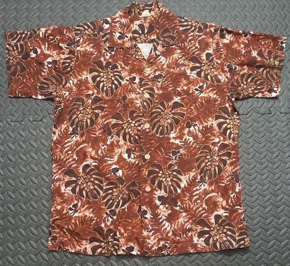 Vintage Hawaiian Men's Shirt sz MED Aloha 1950's P